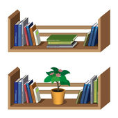 Shelf with books — Stock Vector