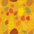 Cartoon seamlessl pattern with autumn leaves .Background — Stock Vector