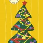 Cartoon christmas tree — Stock Vector #4244320