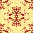Vector de stock : Red damask wallpaper