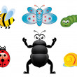 Royalty-Free Stock Vector Image: Happy insects