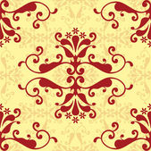 Red damask wallpaper — Wektor stockowy