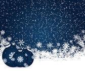 Fondo de la decoración de navidad — Vector de stock