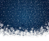 Blå jul bakgrund — Stockvektor