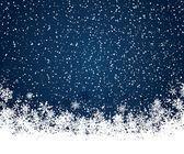 Fondo de navidad azul — Vector de stock