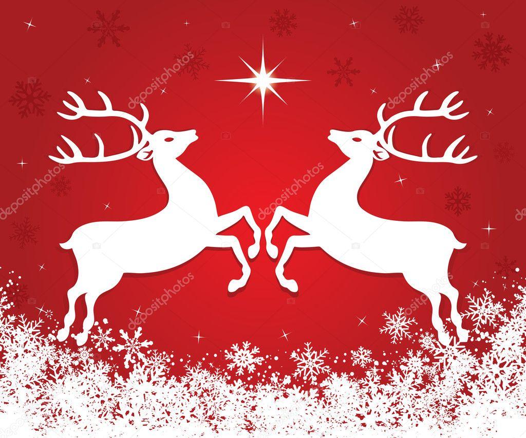 Christmas reindeer — Stock Vector © gigello #4319999