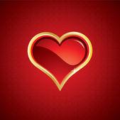 χρυσή καρδιά — Διανυσματικό Αρχείο