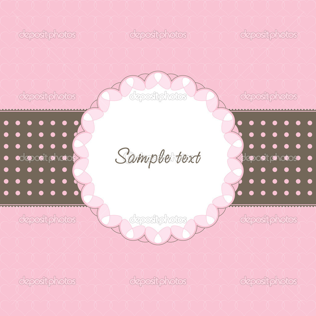 Vintage frame with heart and text — Stock Vector #4643404