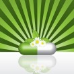 Natural herbal pill — Stock Vector #4874415