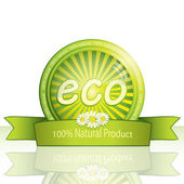Eco promo sticker — Stock Vector
