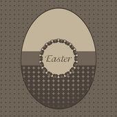 Wielkanoc karta z pozdrow — Wektor stockowy