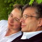 Senior couple dreaming — Stock Photo