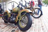 Green Harley-Davidson Oldtimer — Stock Photo