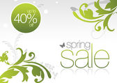 Sping Sale Card 40% off — Stock Photo