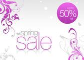 Sping Sale Card 50% off — ストック写真