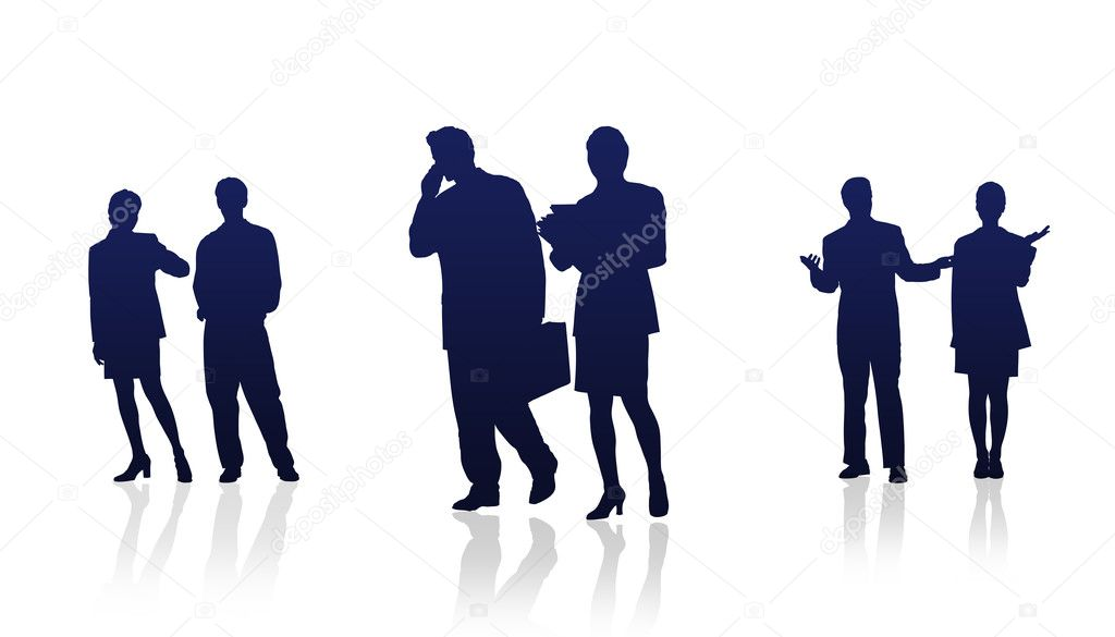 High Resolution graphic of business silhouettes.  Stock Photo #4677694