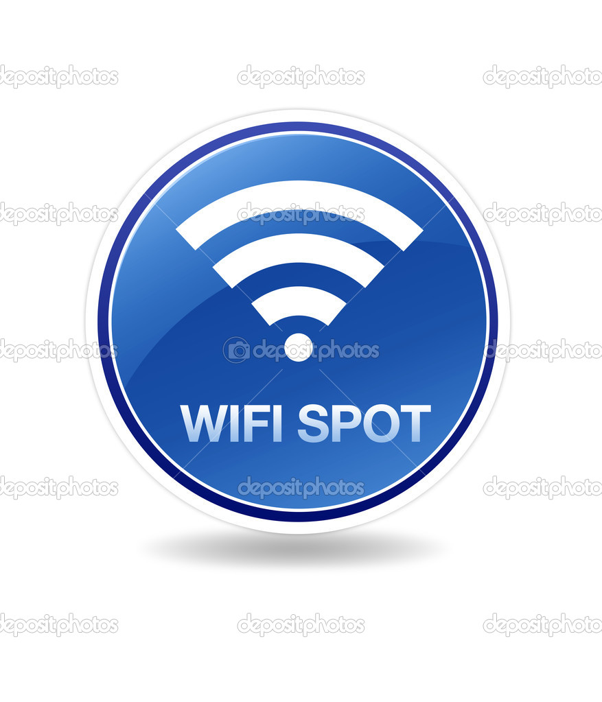 High resolution icon of wifi wireless spot.  — Stock Photo #4790038