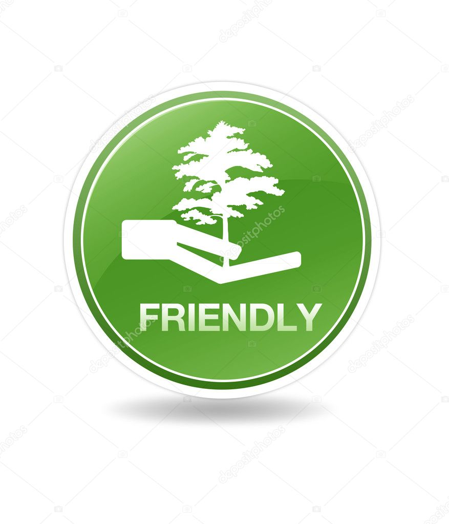 High resolution eco friendly icon with tree.  Stock Photo #4791833