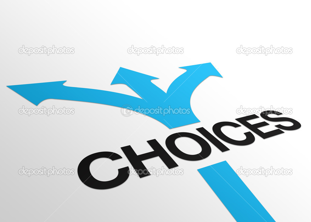 High resolution perspective graphic of  the word choices. — Stock Photo #4811559