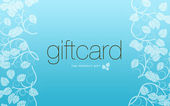 Ligh Blue Gift Card — Stock Photo