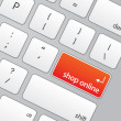 Royalty-Free Stock Photo: Keyboard with Shop Online Icon
