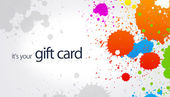 Gift Card - Splash — Stock Photo