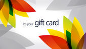 Gift Card - Floral — Stock Photo