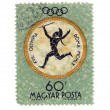 Stamp: XVII Olympic Games - Stock Photo