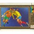 Stock Photo: Stamp: Soccer Players