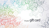 Gift Card - Floral Elements — Stock Photo