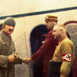 Hitler at the airport - Stock Photo
