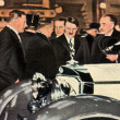 Adolf Hitler at a Car Expo - Stock Photo