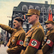 Hitler, Himmer, Roehm in Leipzig — Stock Photo