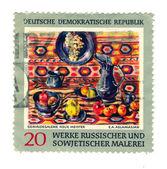 Postage Stamp: Werke Russischer Und Sowjetischer Malerei circa 1 — Stock Photo