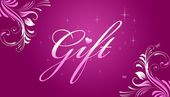 Gift Card - Pink — Stock Photo