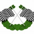 Chequered flags — Stock Photo #4376648