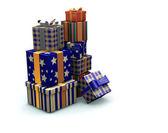 Stapel von geschenken — Stockfoto