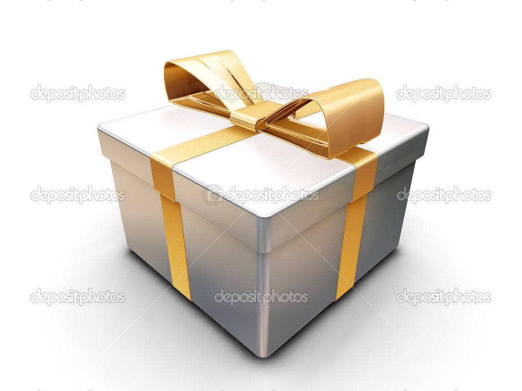 3D render of a wrapped gift — Lizenzfreies Foto #4379898