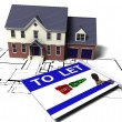 Foto Stock: House to let