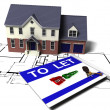 Foto de Stock  : House to let