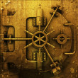 Grunge bank vault - Stock Photo