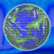Binary Globe — Stock Photo