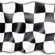 Checkered flag - Stock Photo