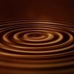 ondulations de velours chocolat — Photo