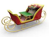 サンタのそり — ストック写真