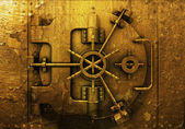 Grunge bank vault — Stock Photo