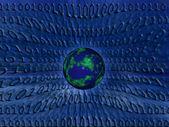 Mundo binário — Foto Stock