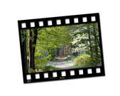 Countryside filmstrip — Stock Photo