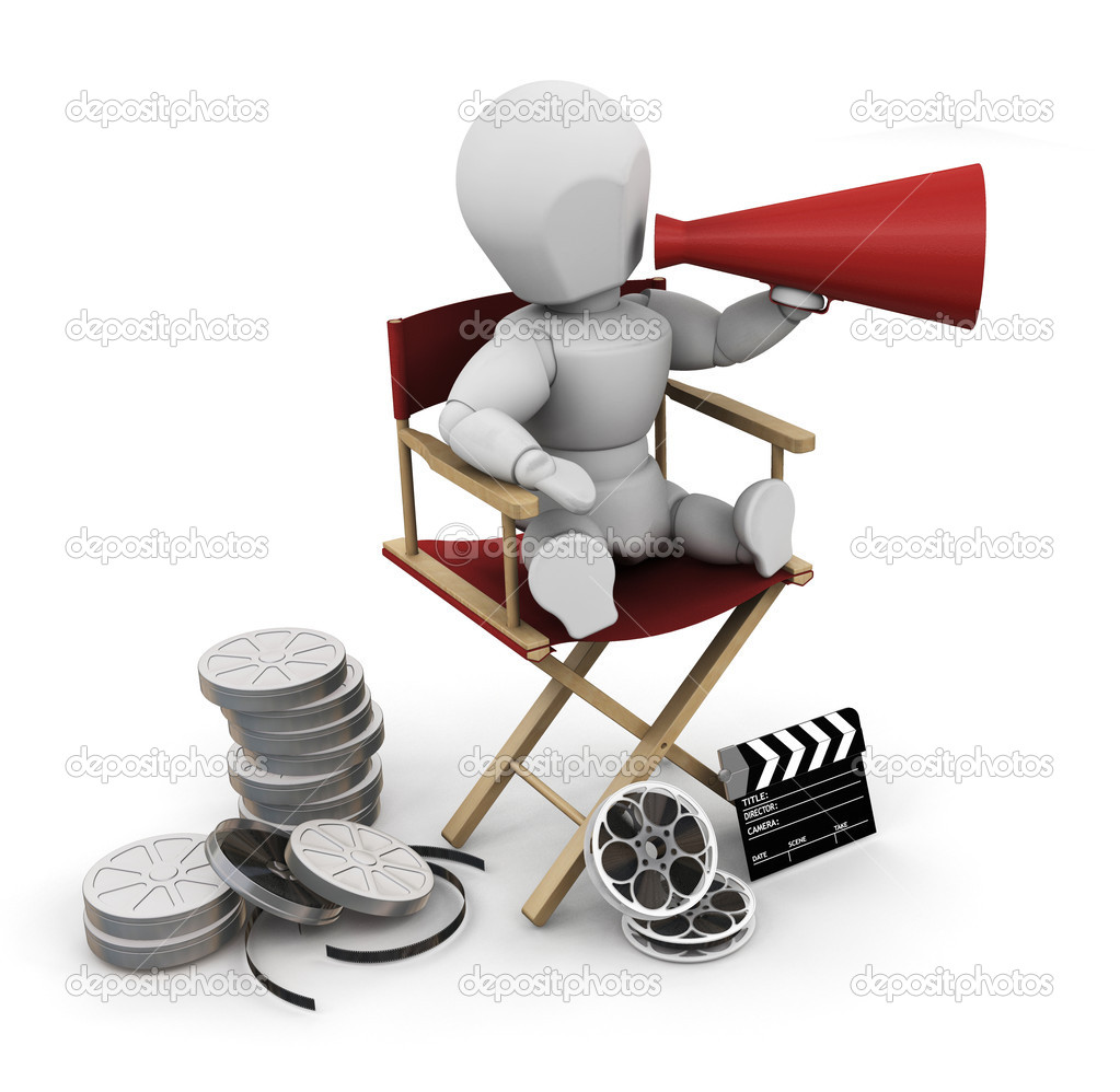 3D render of a film director — Stock Photo #4381315