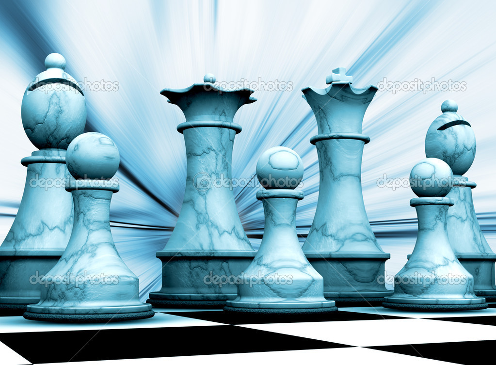 Abstract background with chess pieces — Stock Photo #4384992